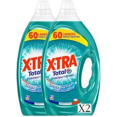 Total+ Lessive liquide fraîcheur 120 lavages 2X3l