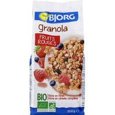 BJORG Granola bio céréales aux fruits rouges 350g