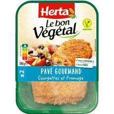 HERTA Pavé gourmand bon végétal à la courgette et au fromage 2 pièces 180g