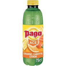 PAGO Boisson à l'orange carotte citron vitamines ACE 75cl