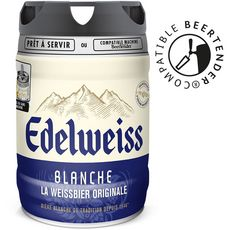 EDELWEISS Bière blanche original fût pression 5% 5l