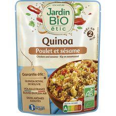 Jardin Bio JARDIN BIO ETIC Quinoa poulet et sésame en poche fabriqué en France