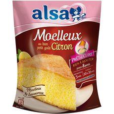 ALSA  Préparation pour moelleux citron prêt à cuire 8 parts 500g