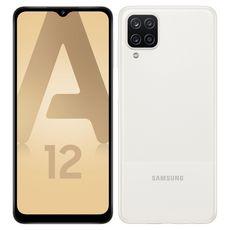SAMSUNG Smartphone Galaxy A12  4G  64 Go  6.5 pouces  Blanc  Double NanoSim