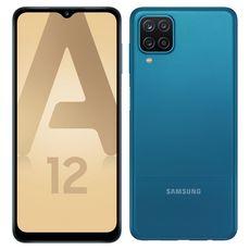 SAMSUNG Smartphone Galaxy A12  4G  64 Go  6.5 pouces  Bleu Double NanoSim