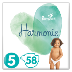 PAMPERS Harmonie couches taille 5 (+11kg) 58 couches