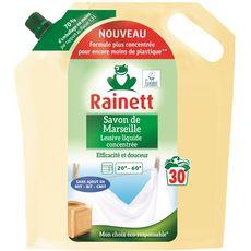 RAINETT Recharge lessive liquide au savon de Marseille 30 lavages 1.5l