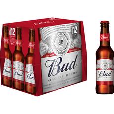 BUD Bière Blonde 5% bouteilles 12x33cl