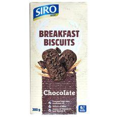 Biscuits petit déjeuner au chocolat sachets fraîcheur 6x2 biscuits 300g