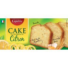 GEORGES LAPORTE Cake aux écorces de citron confites 220g