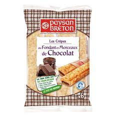 PAYSAN BRETON Breton Crêpes fourrées au fondant et morceaux de chocolat  6 crêpes 180g
