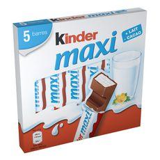 KINDER Maxi barres chocolatées 5 barres 110g