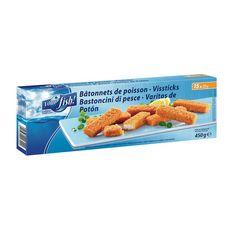 YOUR FISH ! Bâtonnets de poisson panés sans arête 15 bâtonnets 450g