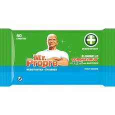 MR.PROPRE Lingettes désinfectantes résistantes et épaisses  60 lingettes
