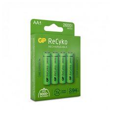 GP Blister 4 piles rechargeables Recyko+ AA 2600MAH 201210 - Vert