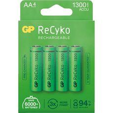 GP Blister 4 piles rechargeables ReCyko+ AA 1300MAH - Vert
