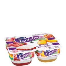 Taillefine mousse fromage blanc sur lit fraise pêche 4x115g