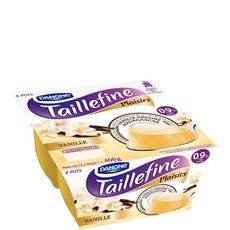 Taillefine plaisirs fondant allégé vanille 4x100g
