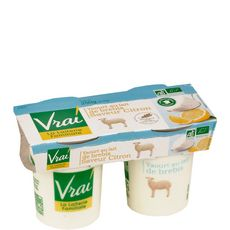 Vrai yaourt bio brebis citron 2x125