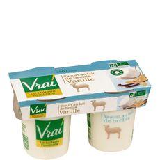 Vrai yaourt brebis vanille bio 2x125g