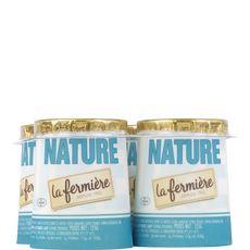 LA FERMIERE Yaourt nature au lait entier des Alpes 4x125g