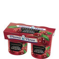 Mamie Nova Gourmand cerises griottes 2x150g