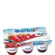 Baiko yaourt sur lits de fruits rouges 6x125g