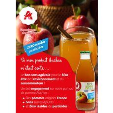 AUCHAN Pur jus de pomme zéro résidu pesticide bouteille verre 1l