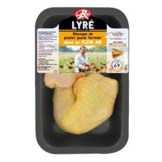 LYRE Cuisse de poulet jaune fermier label rouge 2 pièces 500g
