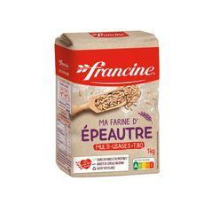 FRANCINE Ma farine d'épeautre multi-usages T80  1kg