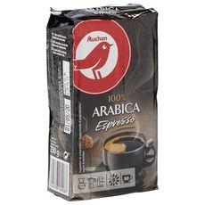 AUCHAN Café moulu espresso intensité 8 100% arabica 50 tasses 250g