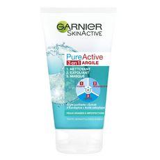 GARNIER PureActive nettoyant exfoliant masque peaux grasses à problèmes 150ml
