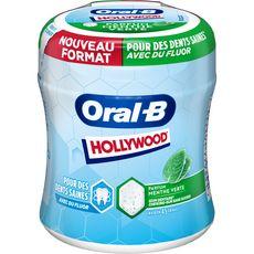 HOLLYWOOD Oral-B Box  chewing gum menthe verte sans sucre environ 45 dragées 76,5g