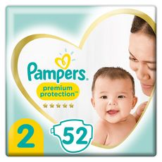 PAMPERS Premium protection couches taille2 (4-8kg) 52 couches