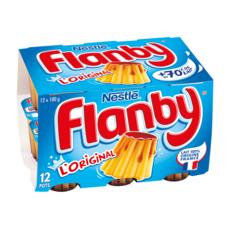 FLANBY Flan nappé au caramel 12x100g