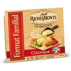 RICHESMONTS Fromage à raclette classique 32 tranches 850g