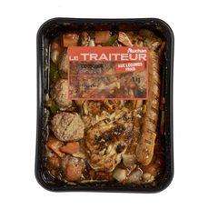 AUCHAN LE TRAITEUR Couscous aux légumes et à la viande 2 portions 1kg