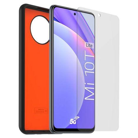 XIAOMI Coque + Verre trempé pour Xiaomi Mi 10T Lite - Noir/Orange