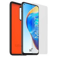 XIAOMI Coque + Verre trempé pour Xiaomi Mi 10T/Mi 10T Pro - Noir/Orange