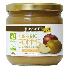 PAYSANS D'ICI Purée pomme bio 380g