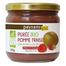 PAYSANS D'ICI Purée pomme fraise bio 380g
