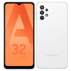 SAMSUNG Smartphone Galaxy A32  5G  128 Go  6.5 pouces Blanc Double NanoSim