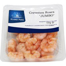 Crevettes roses jumbo décortiquées 100g