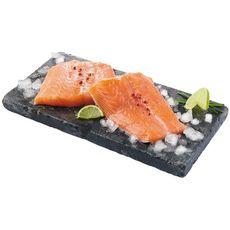 AUCHAN Filet de queue de saumon Atlantique élevé en Ecosse sans arêtes barquette 250g