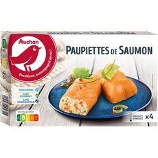 AUCHAN Paupiette de saumon farcie aux noix de Saint-Jacques 4 pièces 500g
