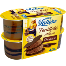 LA LAITIERE Feuilleté de mousse au chocolat  4x57g