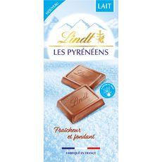 LINDT Les Pyrénéens Tablette de chocolat au lait 150g