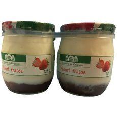 DOMAINE DE GRIGNON Yaourt à la fraise pot en verre 2x125g