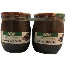 DOMAINE DE GRIGNON Crème dessert au chocolat pot en verre  2x125g