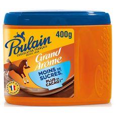 POULAIN Grand arôme chocolat en poudre moins de sucres 400g